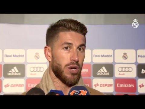 """Sergio Ramos: """"El equipo ha salido, desde el primer minuto, muy motivado."""""""