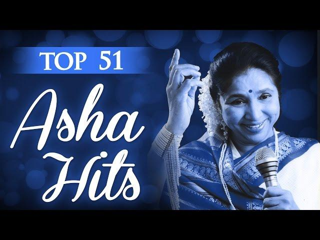 Asha Bhosle Top 51 All time Superhit Collection - (HD) Video Jukebox - Evergreen Bollywood Songs
