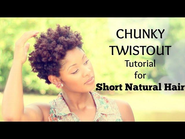 Chunky Twist Out Tutorial for Short Natural Hair