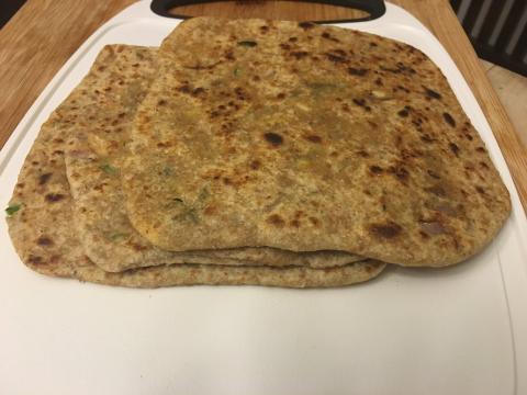 Punjabi Paneer Paratha Recipe (Stuffed Parantha- Indian flatbread recipe)