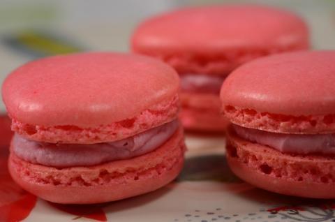 Raspberry Macarons Recipe Demonstration - Joyofbaking.com