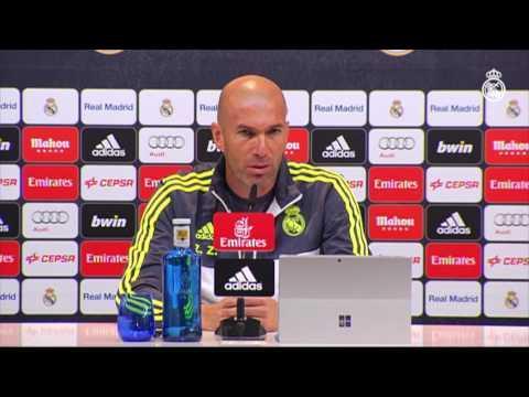 Palabras de Zidane en la previa al partido Real Madrid-Athletic