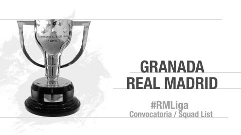 Real Madrid's 19-man squad for Granada-Real Madrid