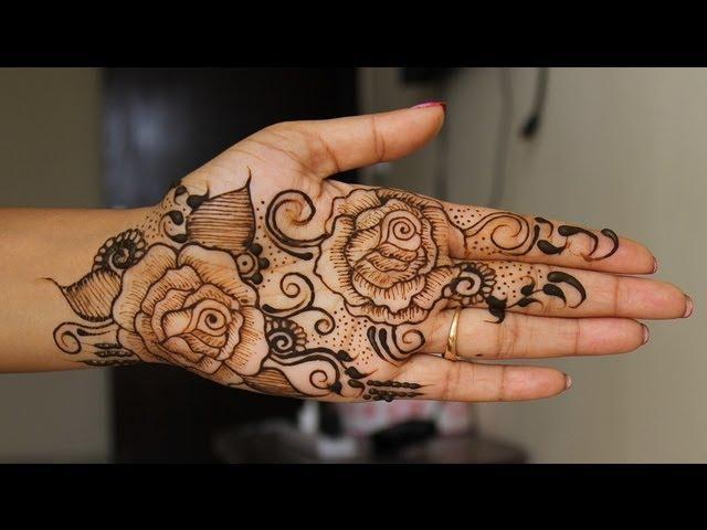3 diy best arabic mehendi design 2015 how to apply for Rose henna tattoo