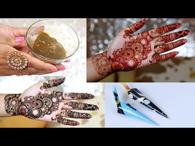 How to make dark stain Henna paste