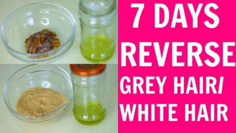 Reverse Grey Hair   2 Ways to Reverse Grey Hair in 7 Days   SuperPrincessjo