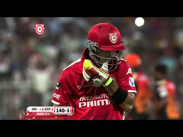 Maxwell OUT, oh wait its a NO-Ball from Sammy (IPL2014: KXIP vs SH - 9th Match)