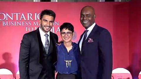 Ranveer Singh At Toronto-Mumbai Film City's MOU Signing Event