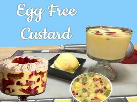 Egg Free Vanilla Custard Pudding Video Recipe | #FIGHTHUNGERCLUB