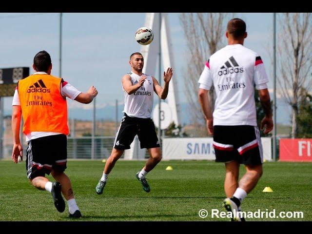 Real Madrid complete their second session of the week / El equipo completó su segundo entrenamiento