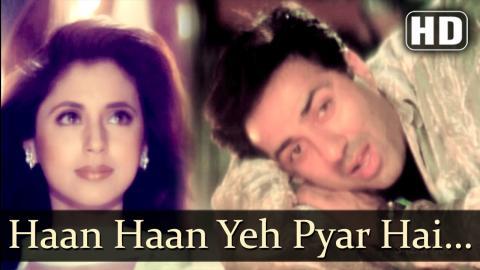 Haan Haan Yeh Pyar Hai   Dillagi Songs   Sunny Deol   Urmila Matondkar   Abhijeet   Love  Filmigaane
