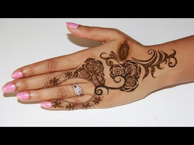 how to draw mehndi designs on hand