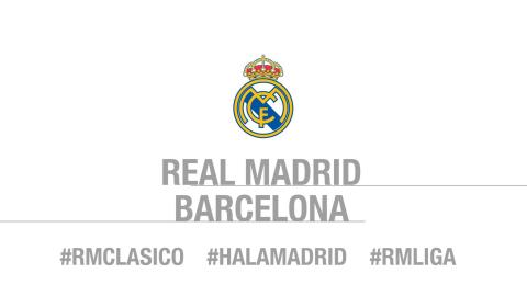 Here's our starting line-up for El Clásico!