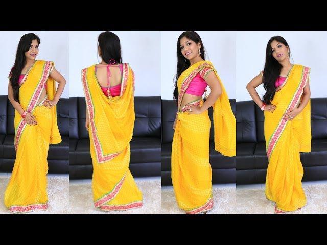 Navratri Special Indian Makeup Tutorial & Saree Outfit [GRWM]