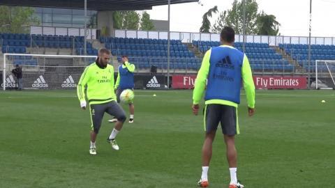 Benzema and Varane showcase their skills