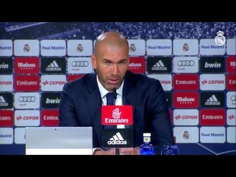 Rueda de prensa de Zidane después de la victoria contra el Espanyol
