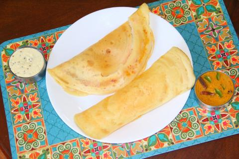 How to make Instant Rice Flour Dosa - Indian Rice & Lentil Crepes