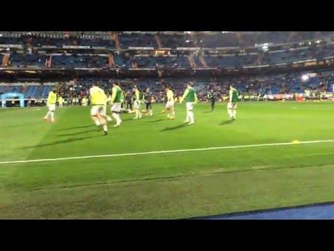 Experience being up close with the players during their pre-match warm up!
