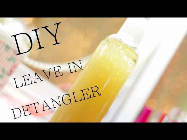 DIY All Natural Leave In Detangler for Natural Hair