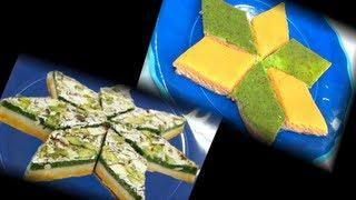 Trirangi Katlis - Kaju Badam Pista Katlis -TriColor Cashew Almond and Pistachio Fudge
