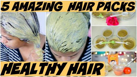 5 Amazing Hair Packs For Oily ,Itchy Scalp,Hair Thinning,Dry Frizzy,Shiny Hair   SuperPrincessjo
