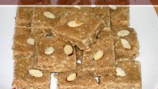 Almond Cashew Burfi by Manjula