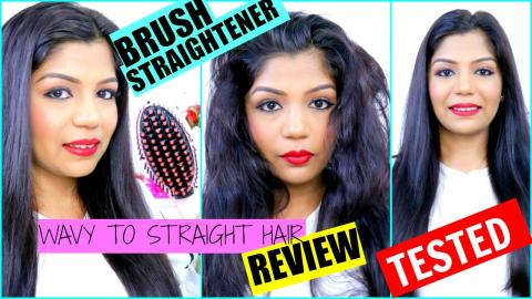 Hair Brush Straightener Review | Straight Hair In 2 Minutes | SuperPrincessjo