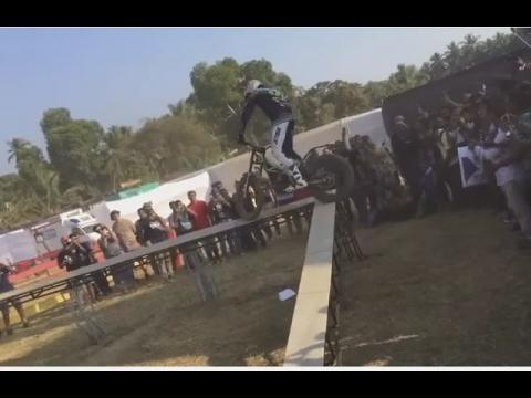 India Bike Week 2016: Dougie Lampkin showcasing his riding skills at IBW event