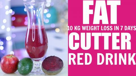 Lose 10 Kg Weight In 7 Days | Red Fat Cutter Drink For Weight Loss |SuperPrincessjo