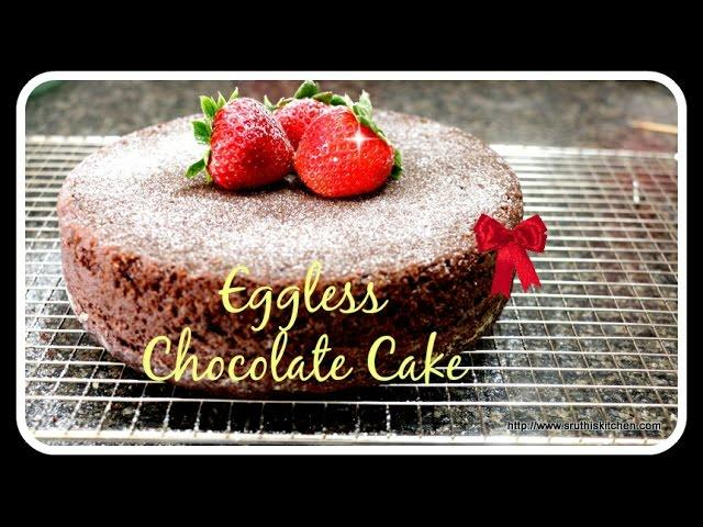 Eggless Chocolate Cake - Without oven