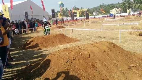 India Bike Week 2016: An 8 year old Sarthak Chauhan gets on Dirty20 Enduro Zone at IBW event