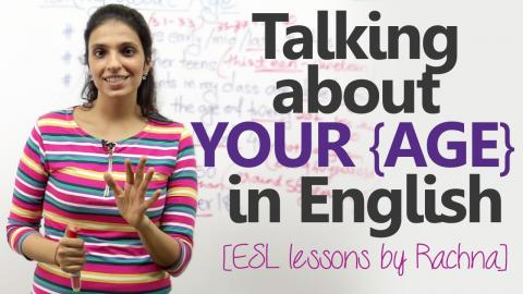 Spoken English lesson - Talking about your age in English.