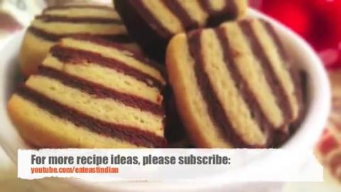Pinstripe cookies Recipe (Easy Cookies for Valentines Day)