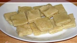 Badam Burfi (Almond Candy) by Manjula, Indian Vegetarian Food