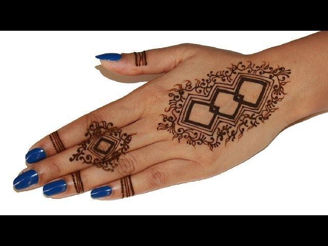 Mid Finger Rings Inspired Unique Simple Henna Design 2014