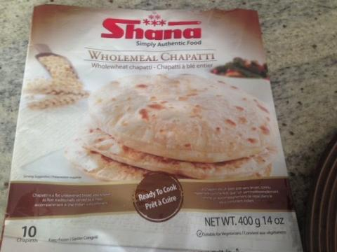 Product review - Shana wholemeal Chapati (Frozen, ready to eat)