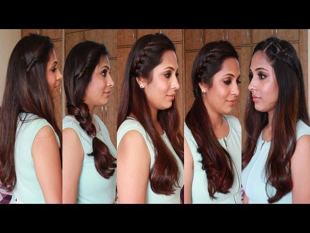4 Simple Easy Diy Hairstyles Hairstyle Tutorial
