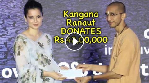 Kangana Ranaut DONATES Rs 42,00,000 Lakh To Isha Foundation