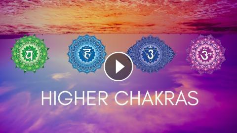 HIGHER CHAKRAS HEALING MEDITATION MUSIC || Heart, Throat, Third Eye