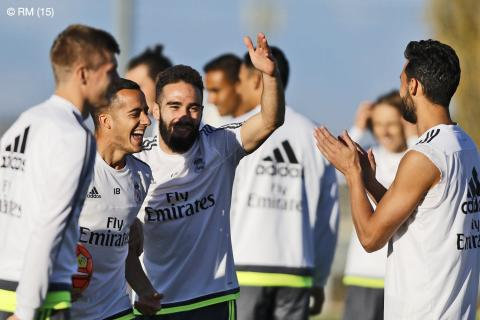 Real Madrid complete final session before Éibar match / Último entrenamiento antes del Éibar