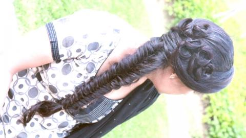 Bridal Rosette Fishtail Braid | ShrutiArjunAnand