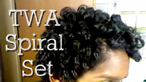 Throwback Tutorial | Spiral Set on Short Natural Hair