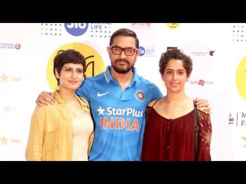 Aamir Khan With Daughters In Dangal Movie - Geeta & Babita