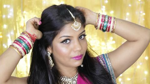 Easy Diwali Makeup Tutorial 2015 | SuperPrincessjo