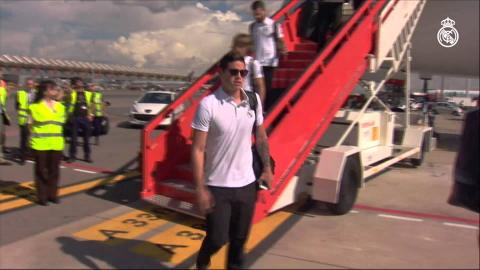 The team arrive in Madrid / El equipo llegó a Madrid