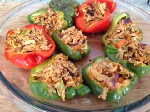 Paneer Stuffed Bell Peppers Recipe ( Stuffed Capsicum- Indian Recipe)
