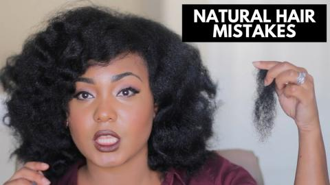 My Natural Hair Mistakes
