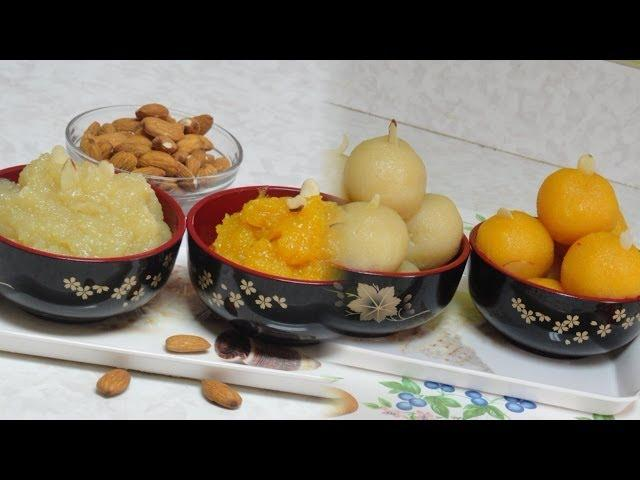 Badam Halwa or Sheera Video Recipe - Almond Pudding Recipe by Bhavna