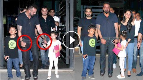 Sanjay Dutt Becomes CUTE Father- Walks Holding Children's