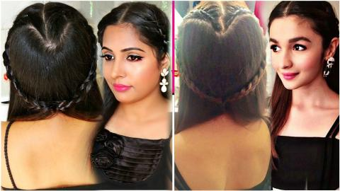Alia Bhatt Inspired | How To Do A Heart Shaped Braid | ShrutiArjunAnand